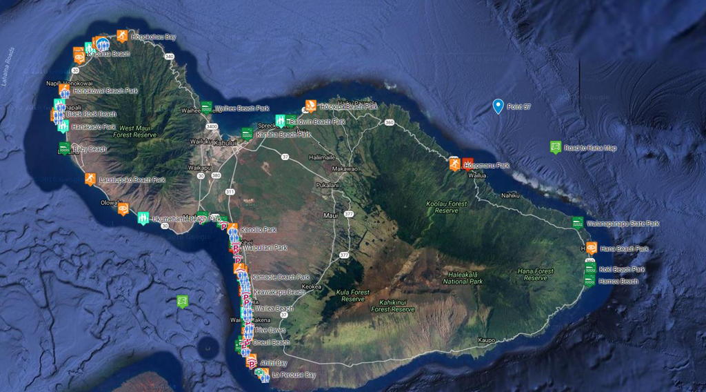 Maui Best Beaches with maps, directions, photos and information Detailed Map Of Maui on