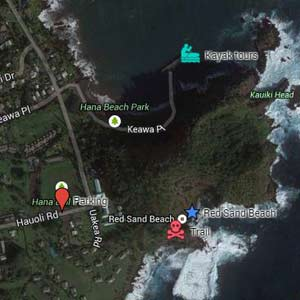 Plan and navigate your maui vacation with maui google maps download kmz file red sand beach google map image sciox Gallery