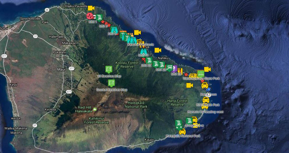 graphic regarding Printable Maps of Maui identify Highway in the direction of Hana Push Direct with maps, guidelines, mile