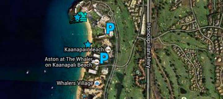 Snorkeling Black Rock (Ka'anapali) - Maui Guide with maps ... on lanai beach map, maluaka beach map, keawakapu beach map, kapalua map, hanalei beach map, north shore beach map, maui map, myrtle beach hotel map, hawaii map, napili beach map, hapuna beach map, lahaina map, kapaa beach map, kihei beach map, waianae beach map, hilo map, paia beach map, hamoa beach map, kauai map, lanikai beach map,