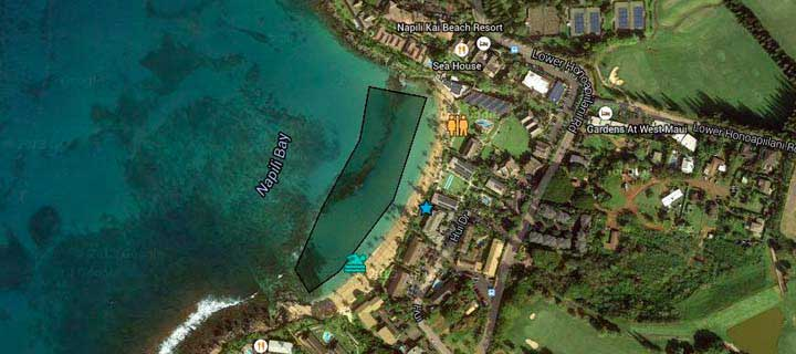 Maui Snorkeling Guide Napili Bay on map of lanai, map of waimea canyon, map of kokee state park, map of molokai, map of lahaina, map of sea life park, map of road to hana, map of scuba diving, map of kauai, map of waikiki, map of hamakua coast, map of big island, map of whale watching, map of oahu,